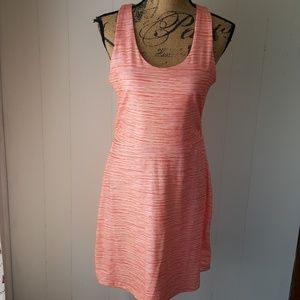Tehama Athletic Striped Ruched Tank Dress